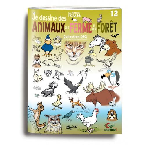 Livre 12 (Je dessine des animaux de la ferme et de la forêt)