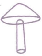 Croquis d'un champignon