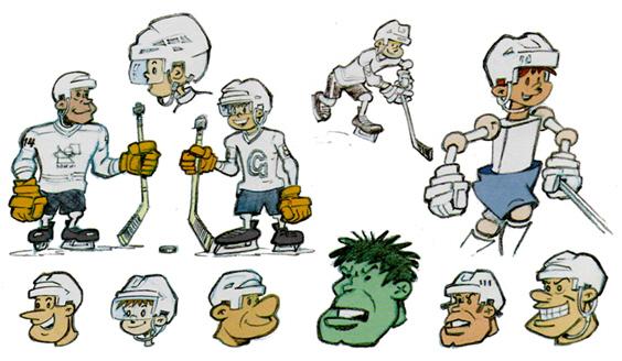 Dessins de joueurs de hockey